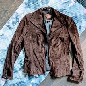 🍂 Danier Brown Italian Leather Jacket
